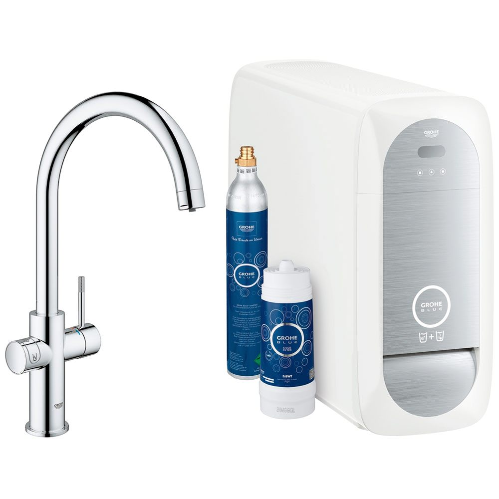 grohe blue home c auslauf starter kit 31455000 megabad. Black Bedroom Furniture Sets. Home Design Ideas
