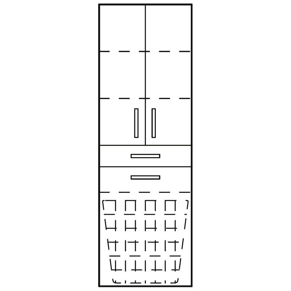Bad hochschrank mit wäschekorb  Kronenbach Plana 100 Hochschrank 50 x 35 x 176,5 cm, 2 Türen, 1 ...