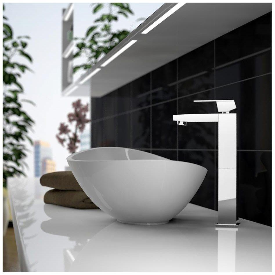 treos serie 710 mineralguss aufsatz waschbecken 56 cm megabad. Black Bedroom Furniture Sets. Home Design Ideas