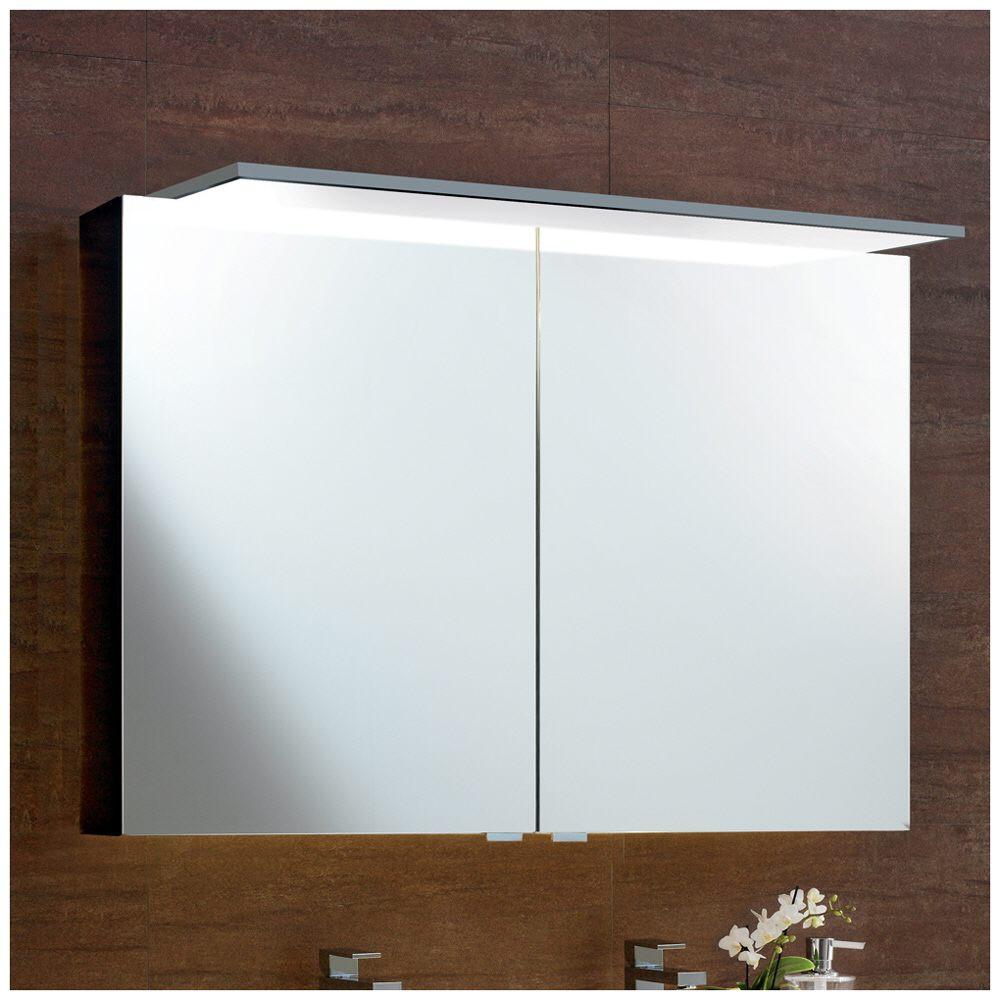 sprinz modern line spiegelschrank modell 02 100 cm aufputzversion mit panel 900 led. Black Bedroom Furniture Sets. Home Design Ideas