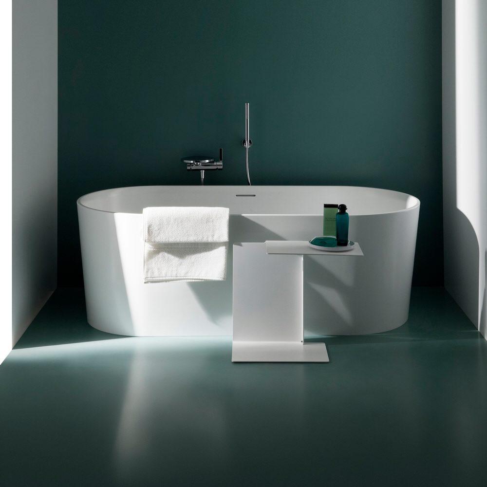 Wanne Freistehend laufen val oval badewanne freistehend mit überlaufspalt