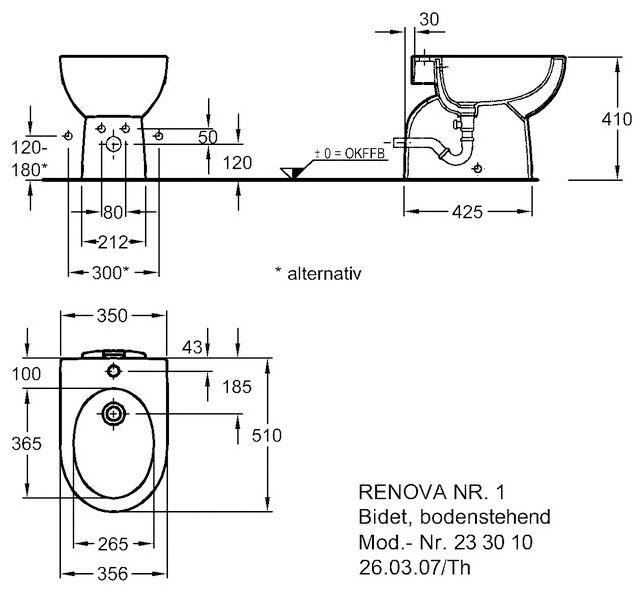keramag renova nr 1 bidet bodenstehend megabad. Black Bedroom Furniture Sets. Home Design Ideas