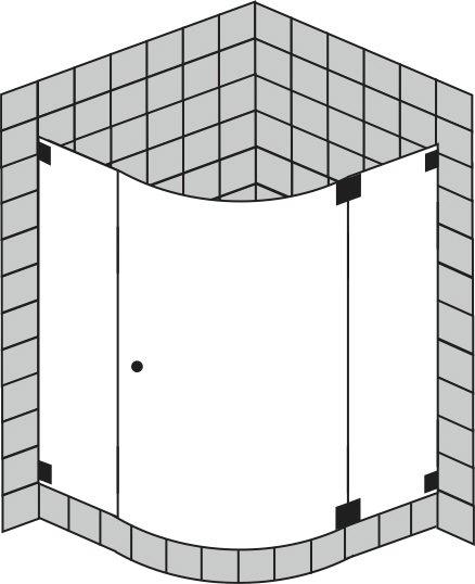viertelkreisdusche asymmetrisch