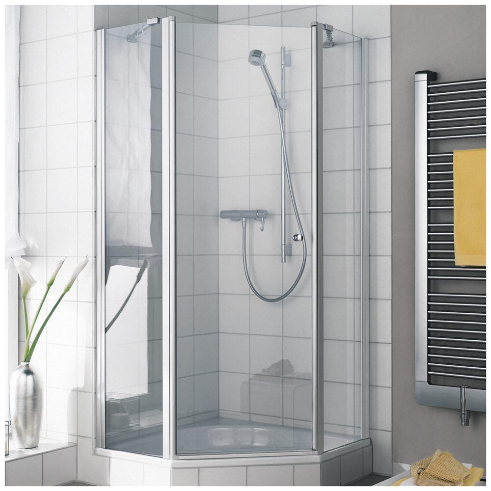 kermi ibiza 2000 f nfeck duschkabine 90 x 90 cm mit schwingt r anschlag rechts smw 40 cm. Black Bedroom Furniture Sets. Home Design Ideas