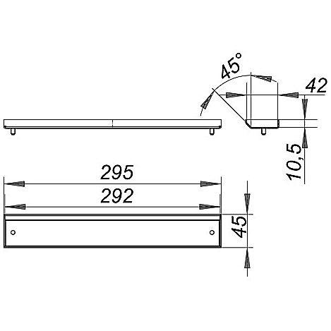 dallmer cerawall p abdeckung individuell 535023 megabad. Black Bedroom Furniture Sets. Home Design Ideas