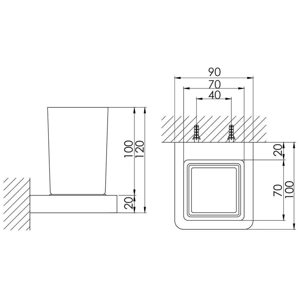 steinberg serie 420 glashalter mit glas wei. Black Bedroom Furniture Sets. Home Design Ideas