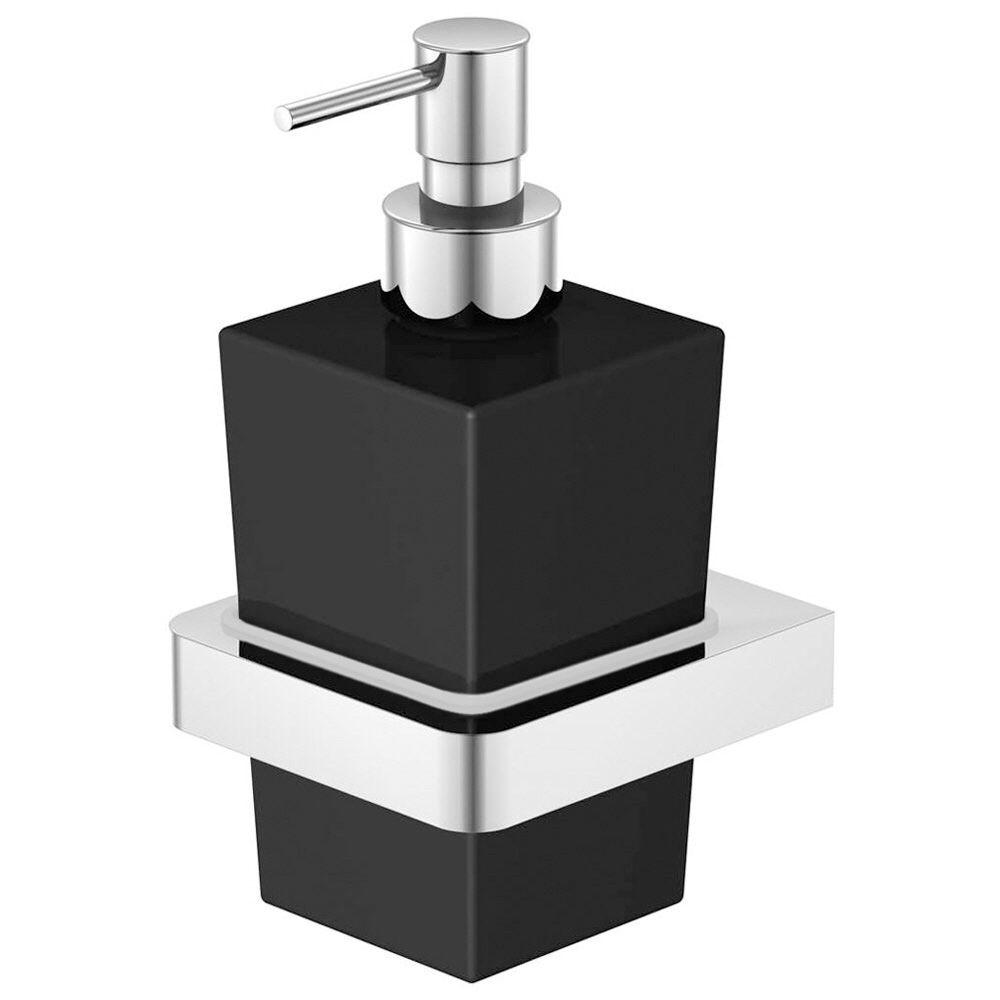 steinberg serie 420 wand seifenhalter mit glas schwarz. Black Bedroom Furniture Sets. Home Design Ideas