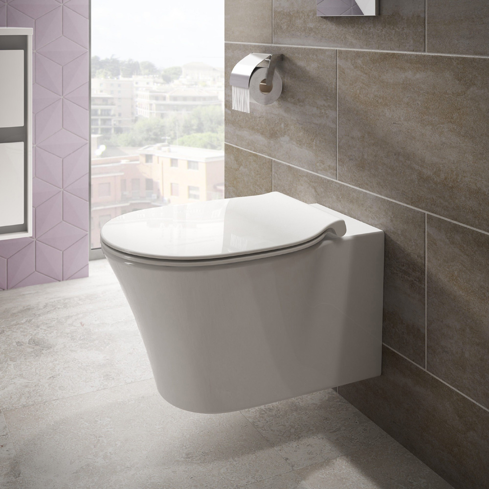 Ideal standard connect air wandtiefsp l wc sp lrandlos for Lunette wc ideal standard