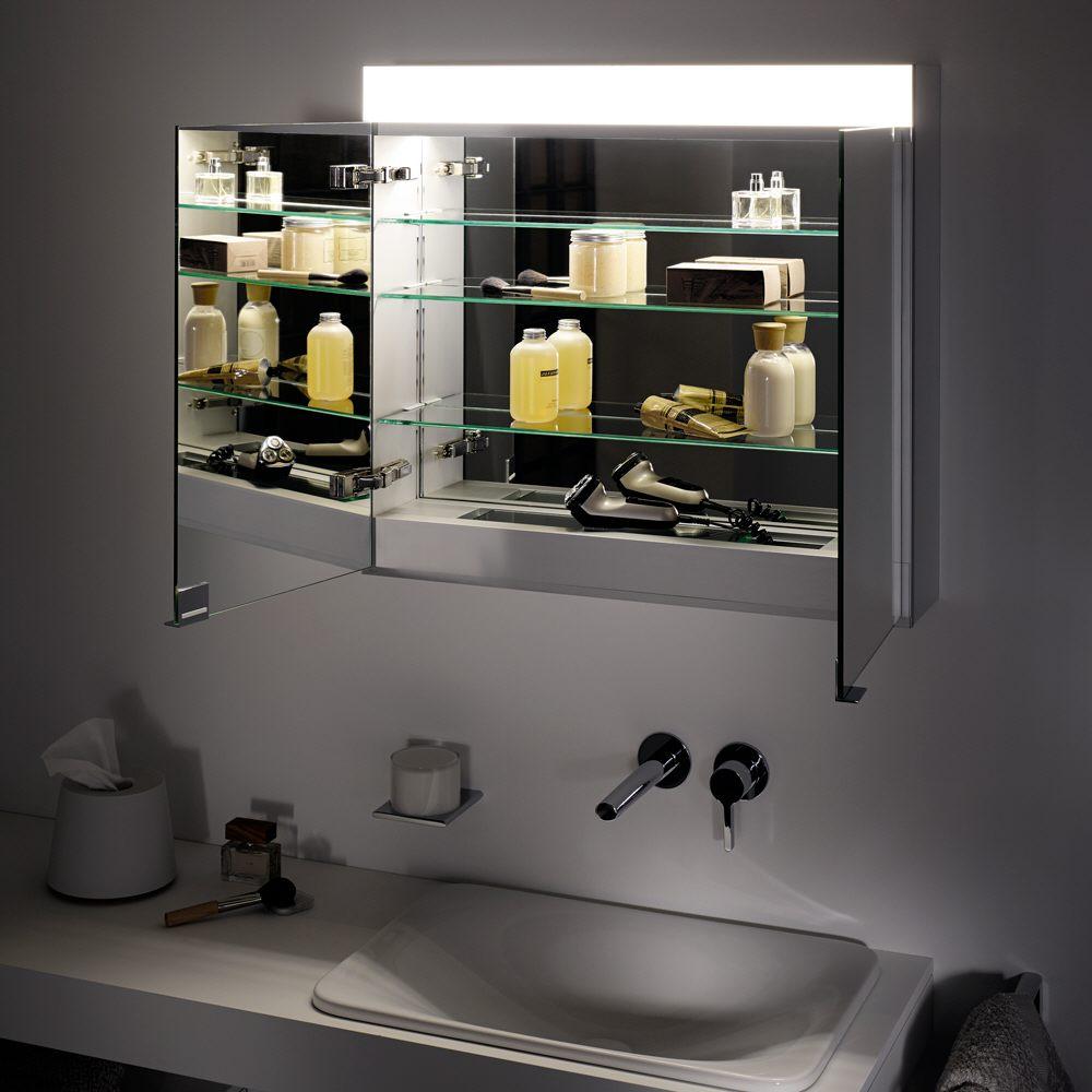 Keuco Edition 400 Spiegelschrank mit Spiegelheizung, einstellbarer ...