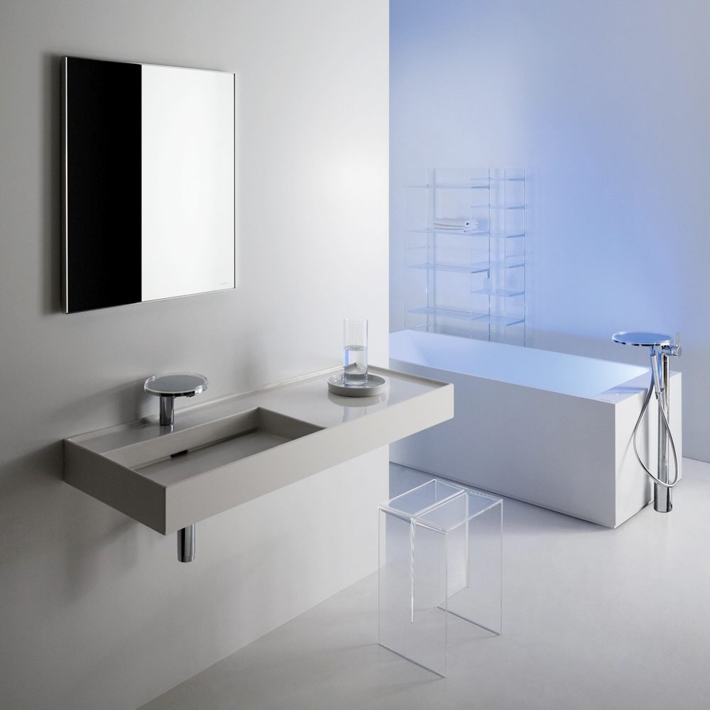 laufen kartell waschtisch 120 x 46 cm ohne hahnlochbohrung 8133320001121 megabad. Black Bedroom Furniture Sets. Home Design Ideas