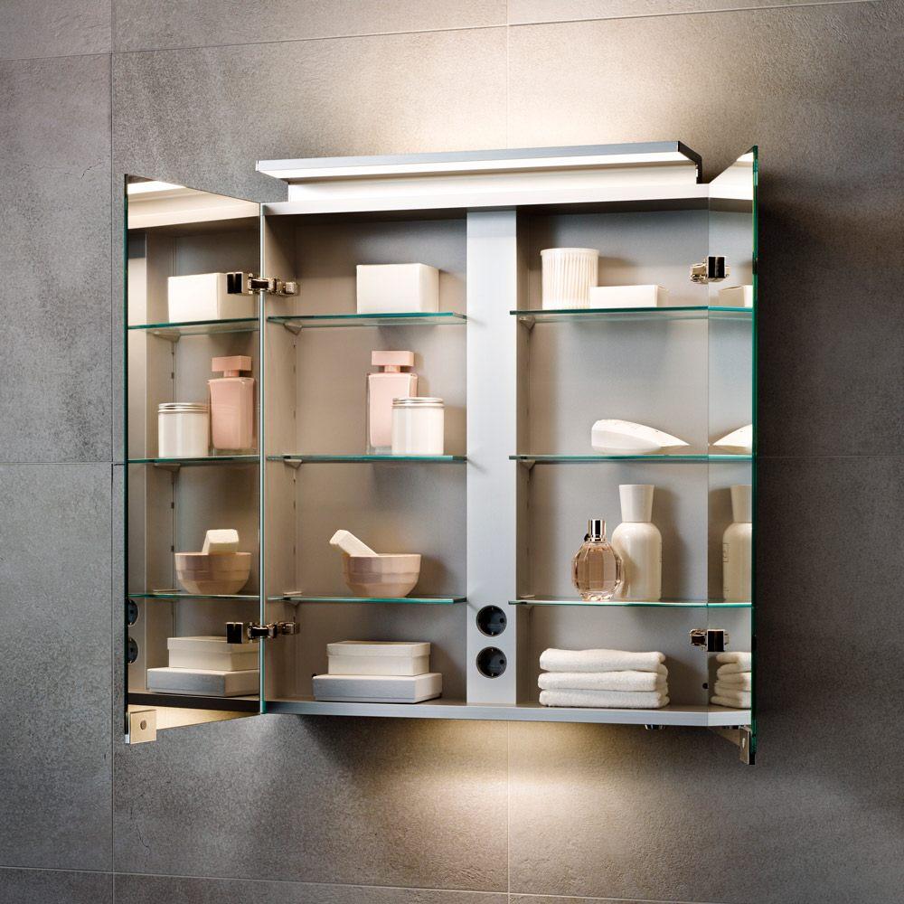 Keuco Royal L1 Spiegelschrank 80 cm, 2 innenliegenden Schubkästen ...