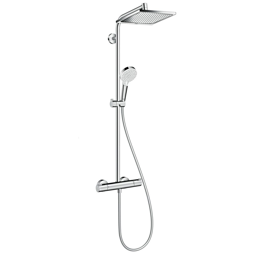 hansgrohe crometta e 240 1jet showerpipe 27271000 megabad. Black Bedroom Furniture Sets. Home Design Ideas