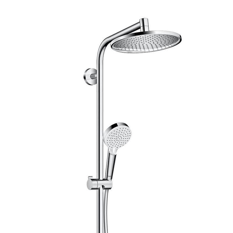 hansgrohe crometta s 240 1jet showerpipe reno ecosmart 27270000 megabad. Black Bedroom Furniture Sets. Home Design Ideas