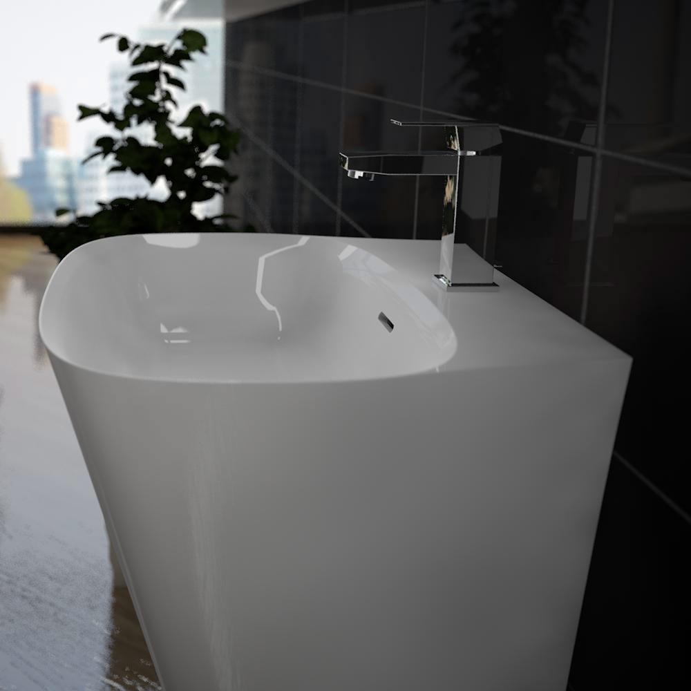 treos serie 730 mineralguss design standwaschbecken megabad. Black Bedroom Furniture Sets. Home Design Ideas
