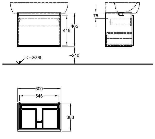 keramag 4u waschtischunterschrank 804160 megabad. Black Bedroom Furniture Sets. Home Design Ideas