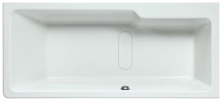 laufen lb3 einbau badewanne asymmetrisch ecke rechts 180 x 80 cm megabad. Black Bedroom Furniture Sets. Home Design Ideas