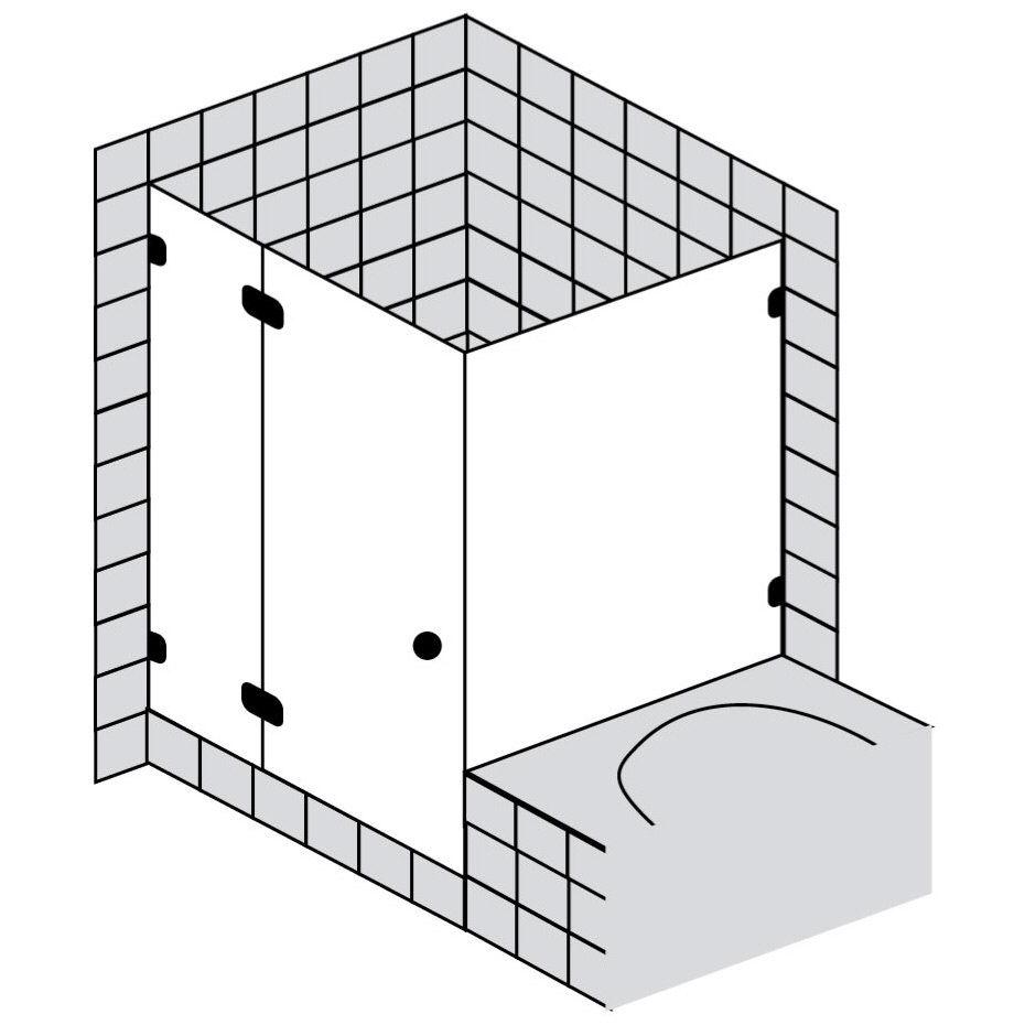 sprinz fortuna t r mit seitenwand an badewanne fa129chl. Black Bedroom Furniture Sets. Home Design Ideas