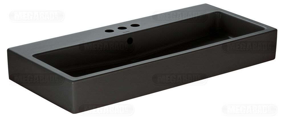 duravit vero black waschtisch 100 cm geschliffen 0454100825 megabad. Black Bedroom Furniture Sets. Home Design Ideas