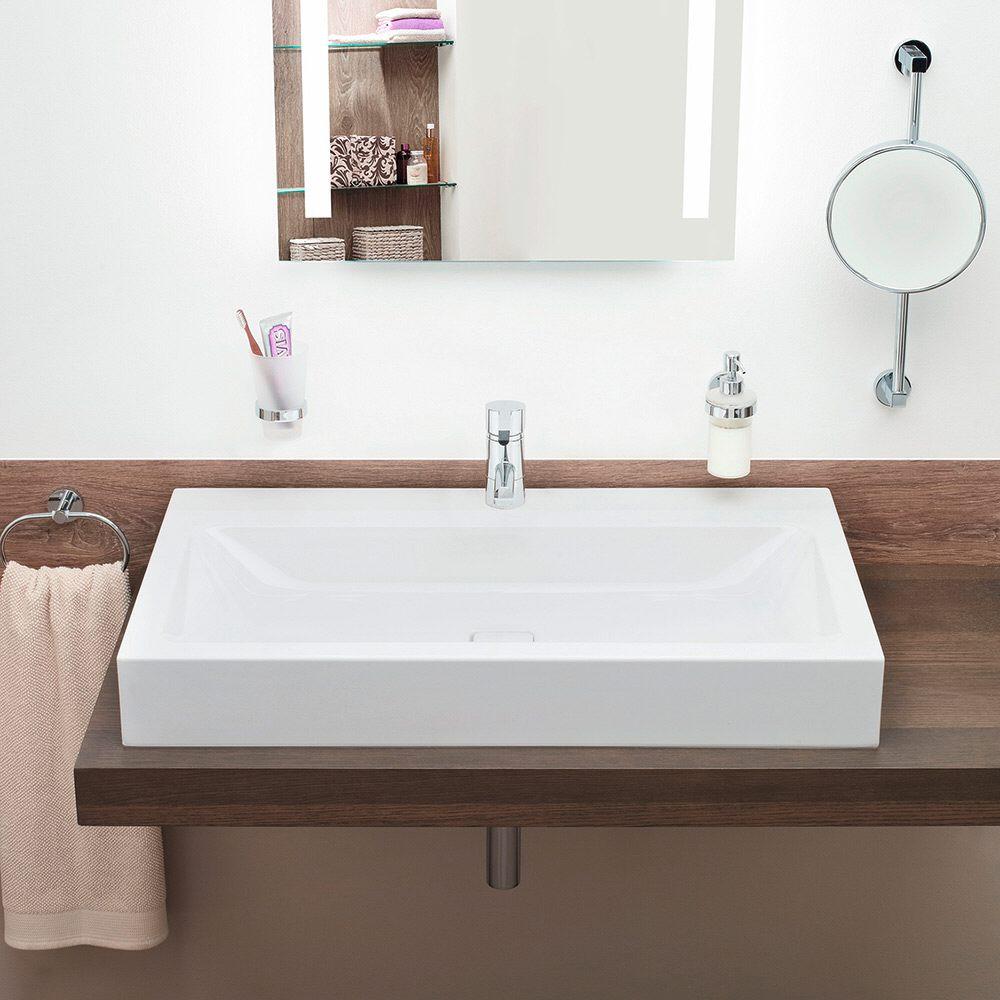 kaldewei cono aufsatzwaschtisch 3086 mit 1 hahnlochbohrung. Black Bedroom Furniture Sets. Home Design Ideas