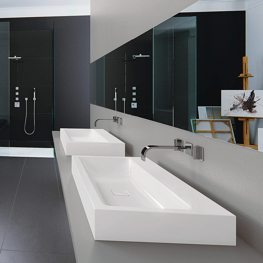 kaldewei cono wandwaschtisch 3091 ohne hahnlochbohrung. Black Bedroom Furniture Sets. Home Design Ideas