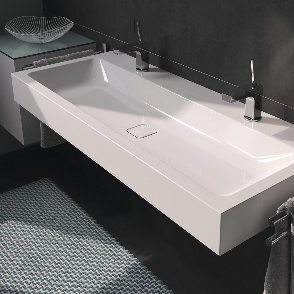 kaldewei cono wandwaschtisch 3091 2 x 1 hahnlochbohrung. Black Bedroom Furniture Sets. Home Design Ideas
