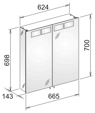 keuco royal t1 spiegelschrank 12602171301 megabad. Black Bedroom Furniture Sets. Home Design Ideas