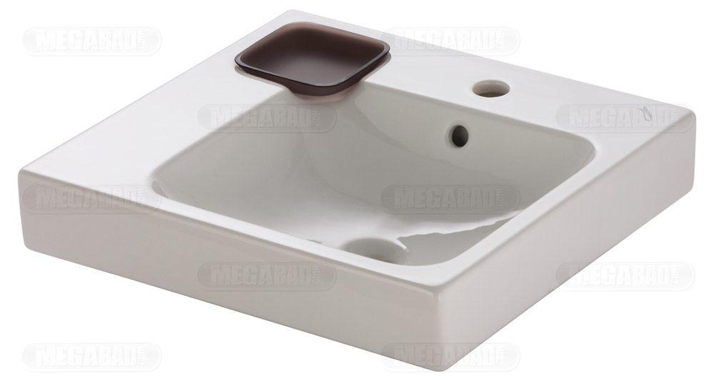 keramag icon waschtisch 50 cm mit dekoschale links megabad. Black Bedroom Furniture Sets. Home Design Ideas