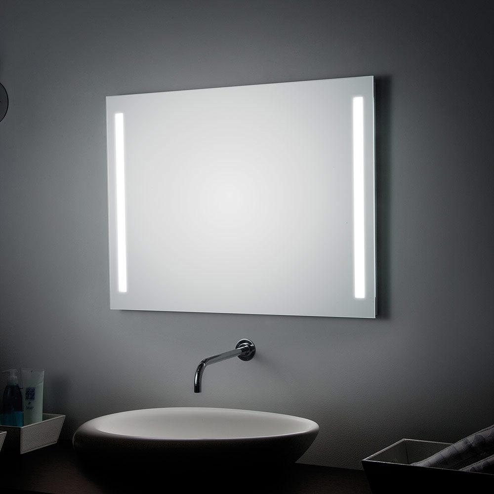 Einzigartig Koh-I-Noor Spiegel 90 x 70 cm mit seitlichen LED-Streifen - MEGABAD AZ23