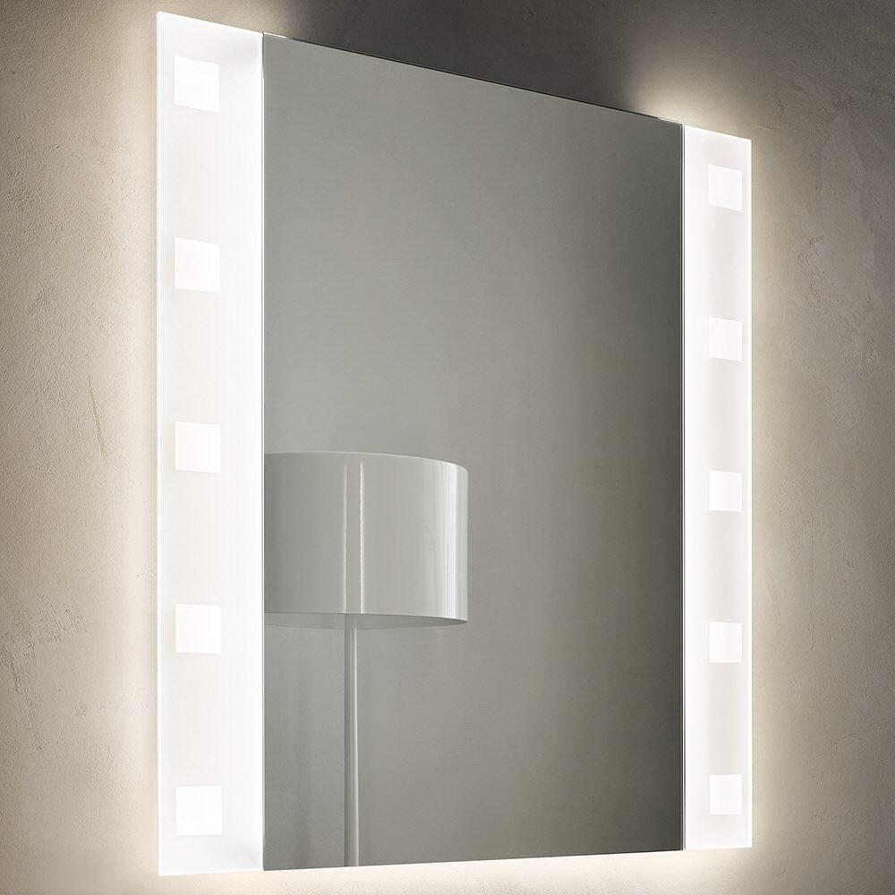 Zierath Modula Lichtspiegel Mit Led Beleuchtung Links Und Rechts 50 X 80 Cm Mit Dekor 3 Square