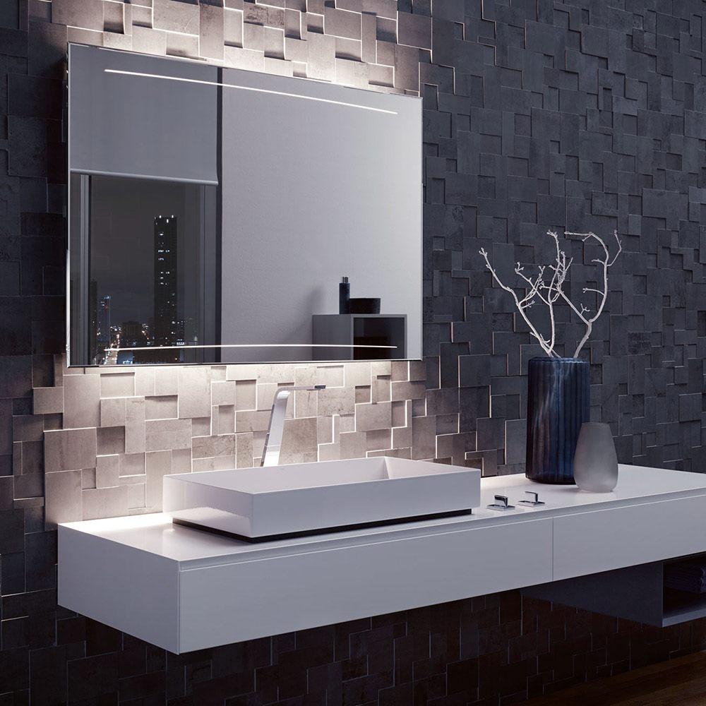 zierath z1 led spiegel hinterleuchtet 100 x 80 cm z1led10080 megabad. Black Bedroom Furniture Sets. Home Design Ideas