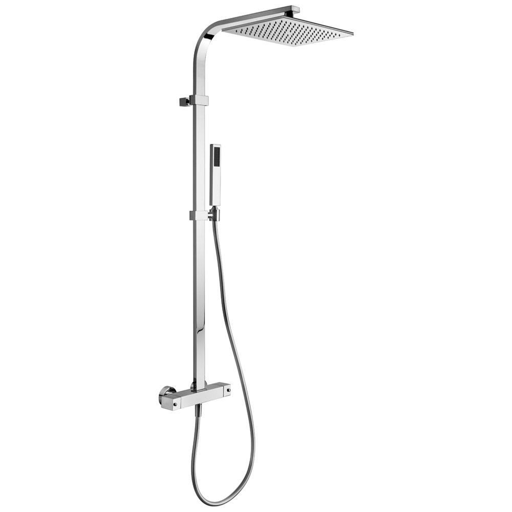 kronenbach duschsystem eckig mit thermostat und. Black Bedroom Furniture Sets. Home Design Ideas