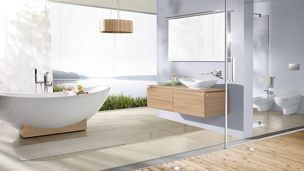 villeroy & boch my nature badkeramik und badmöbel - megabad, Badezimmer ideen