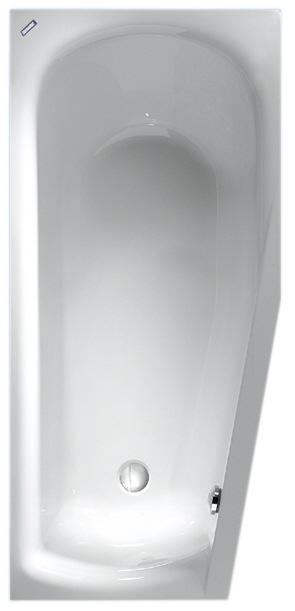 duscholux smart line 40 raumsparwanne 160 x 75 cm megabad. Black Bedroom Furniture Sets. Home Design Ideas
