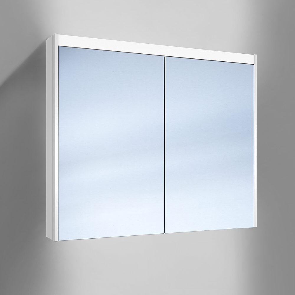 Schneider o line spiegelschrank beleuchtung led unten 90 x 15 8 x 74 5 cm megabad for Spiegelschrank beleuchtung