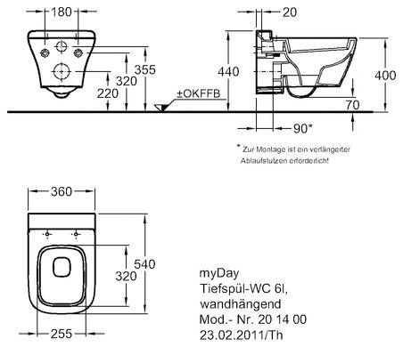 keramag myday wand wc 201400 megabad. Black Bedroom Furniture Sets. Home Design Ideas