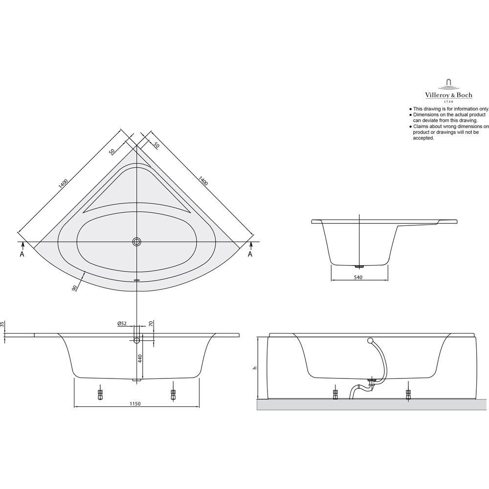 Villeroy & Boch Loop & Friends Oval Eckwanne UBA140LFO3V-01 - MEGABAD | {Eckbadewanne maße 130 90}