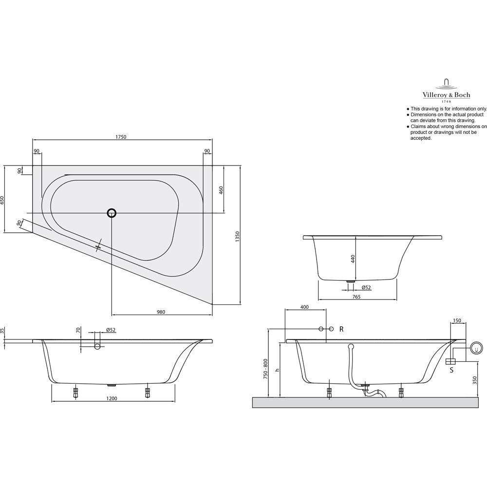villeroy boch loop friends oval eckbadewanne uba175lfo9rev megabad. Black Bedroom Furniture Sets. Home Design Ideas