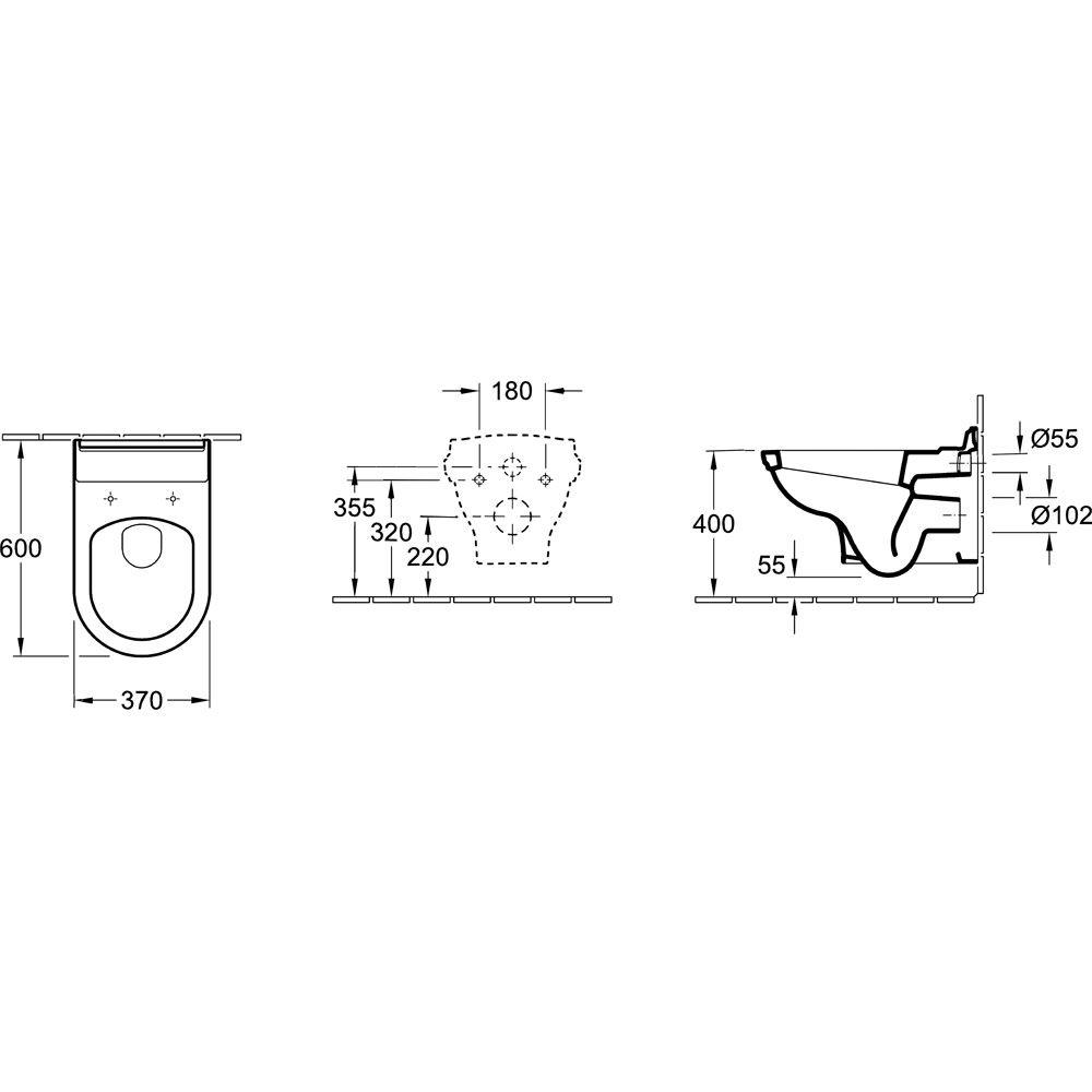 villeroy boch hommage wand tiefsp l wc 6661b0r megabad. Black Bedroom Furniture Sets. Home Design Ideas