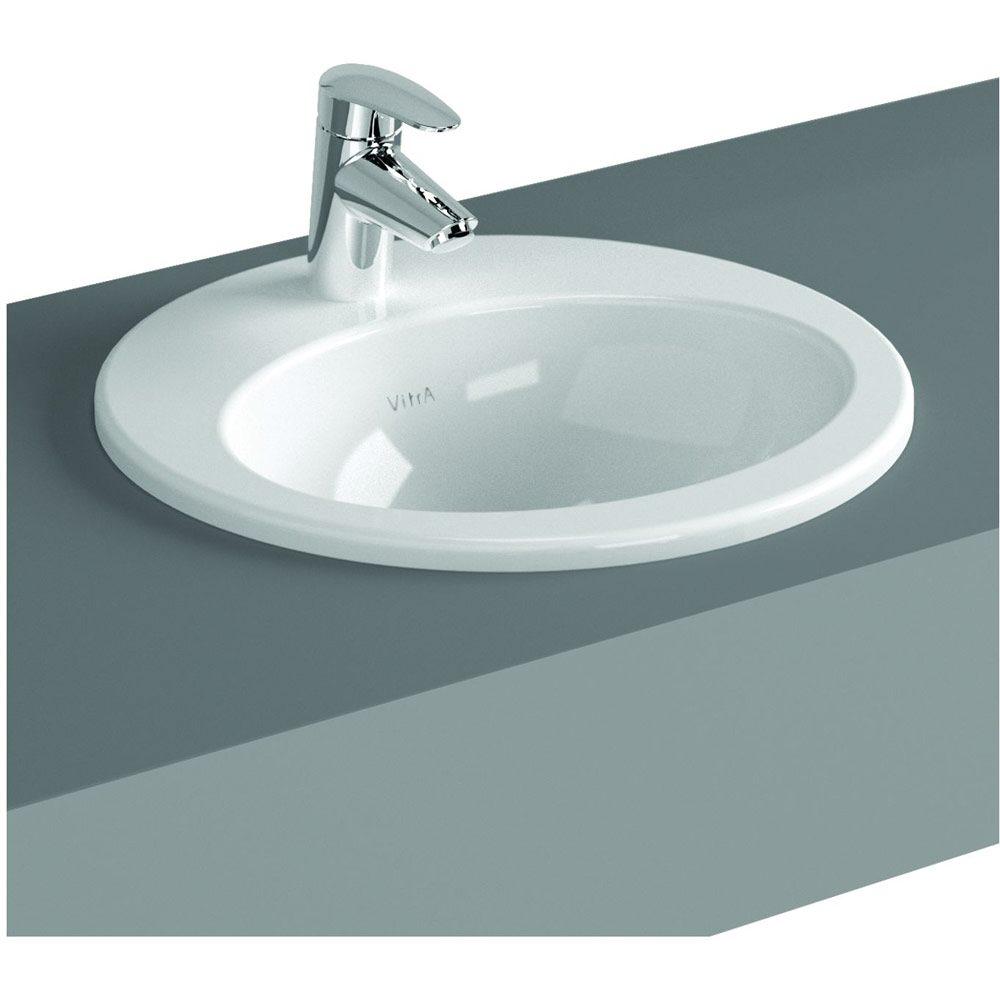 vitra s20 einbauwaschtisch rund 47 5 cm art 5467b003. Black Bedroom Furniture Sets. Home Design Ideas