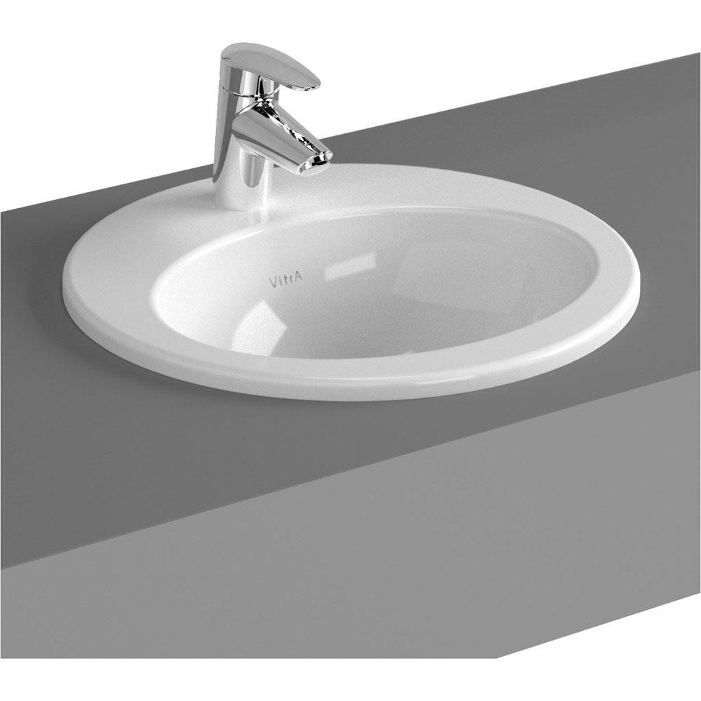 vitra s20 einbauwaschtisch rund 42 5 cm art 5466b003. Black Bedroom Furniture Sets. Home Design Ideas