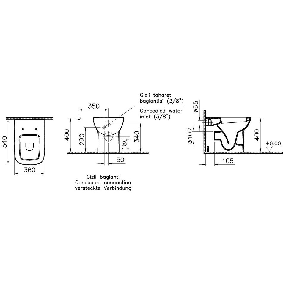 vitra s20 stand wc art 5520l003 0075 megabad. Black Bedroom Furniture Sets. Home Design Ideas