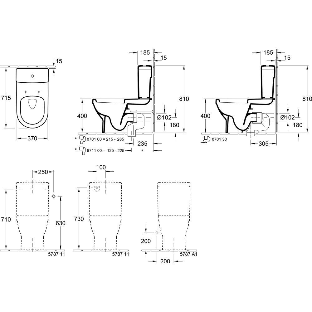 Stand Wc Mit Spülkasten Villeroy Boch villeroy boch architectura spülkasten für wc kombination 5787g101