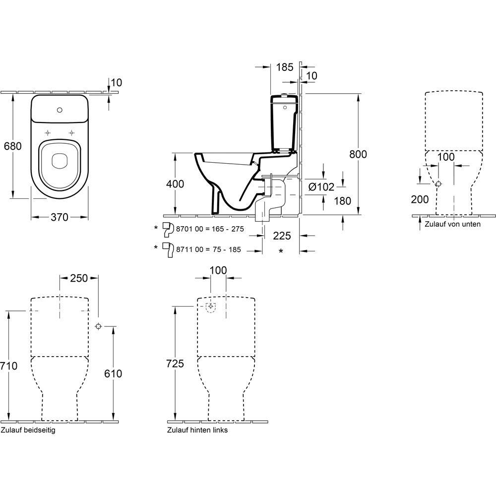 villeroy und boch splrandlos amazing finest sanlingo. Black Bedroom Furniture Sets. Home Design Ideas