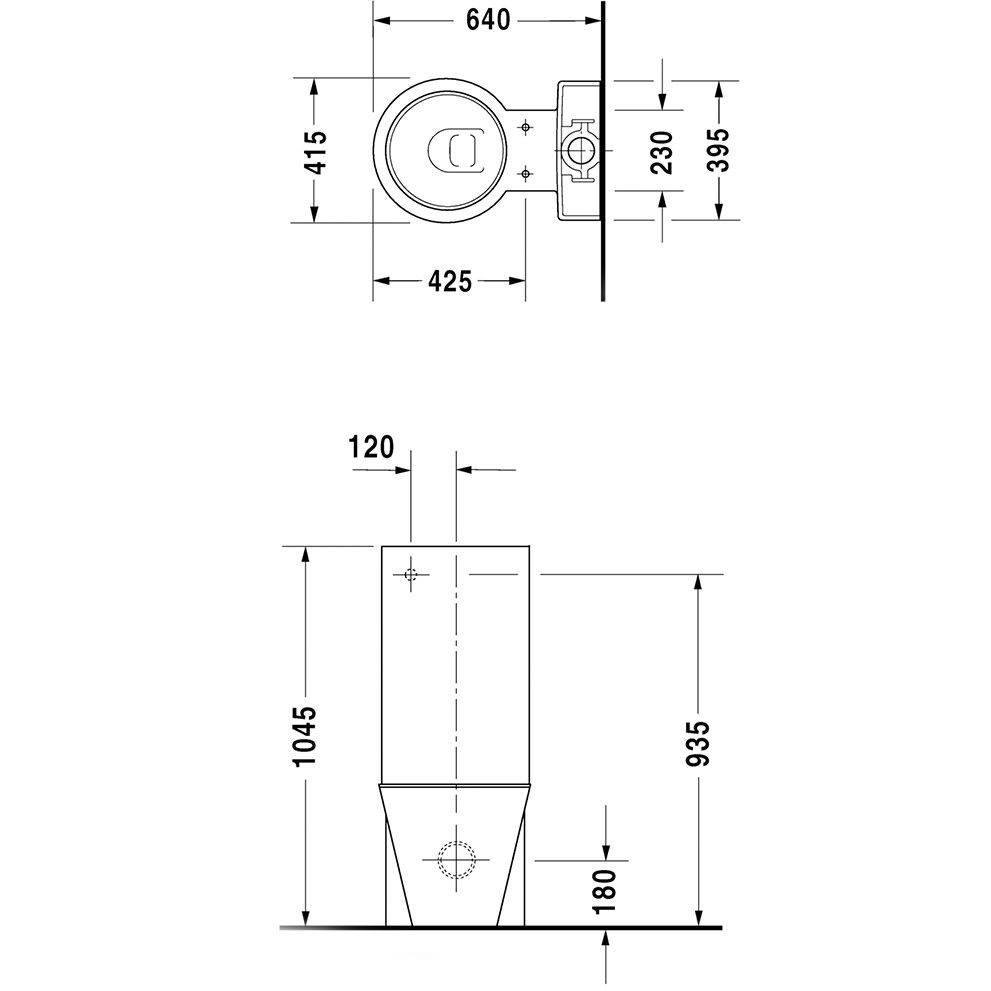 duravit starck 1 sp lkasten f r wc kombination mit classic. Black Bedroom Furniture Sets. Home Design Ideas