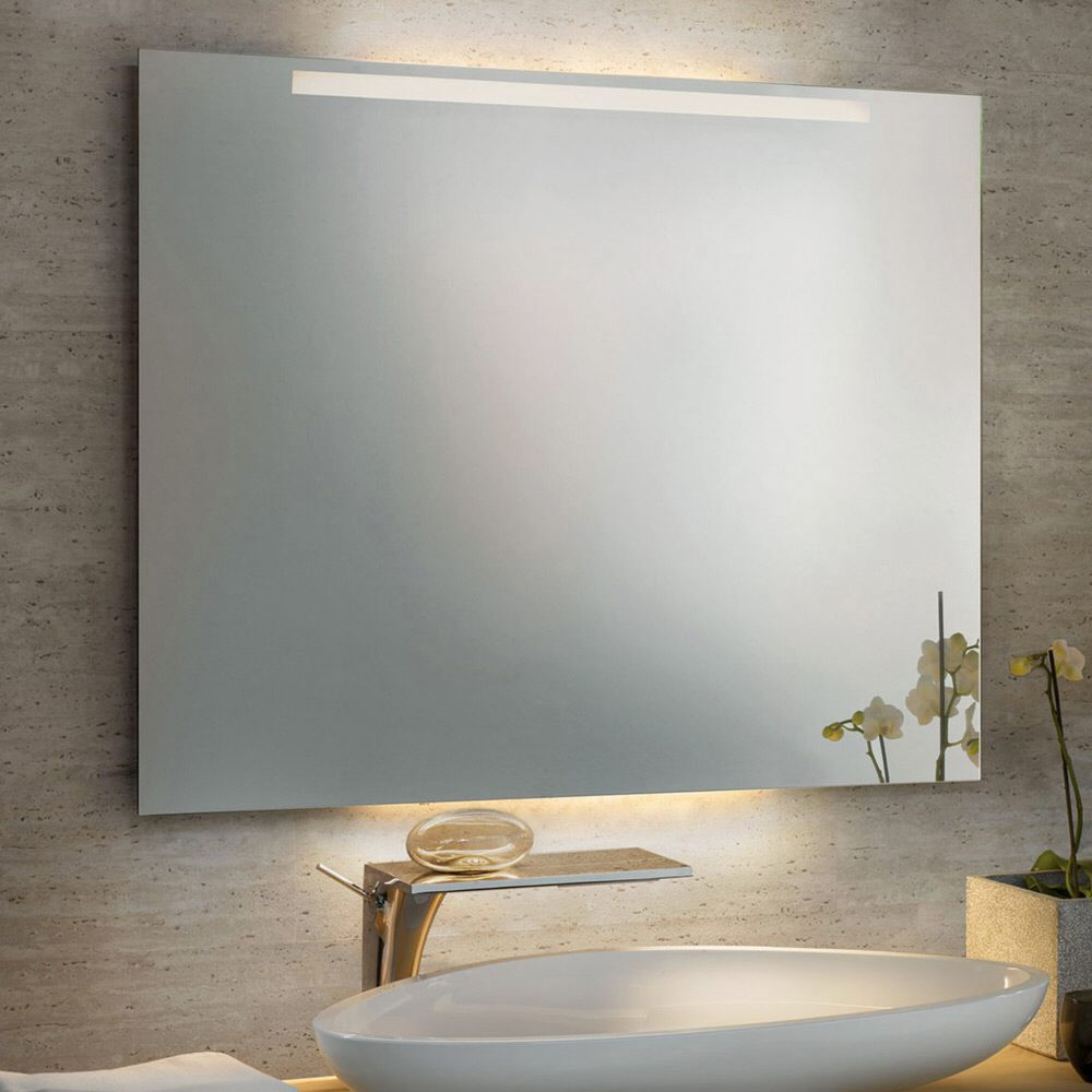 Zierath trento led spiegel hinterleuchtet 100 x 80 cm for Spiegel hinterleuchtet