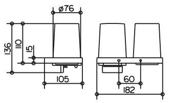 keuco edition 11 doppelhalter 11153019000 megabad. Black Bedroom Furniture Sets. Home Design Ideas