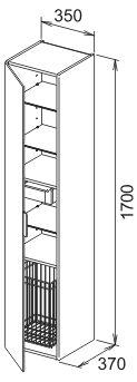keuco edition 11 hochschrank 35 x 170 cm links 31331380001 megabad. Black Bedroom Furniture Sets. Home Design Ideas
