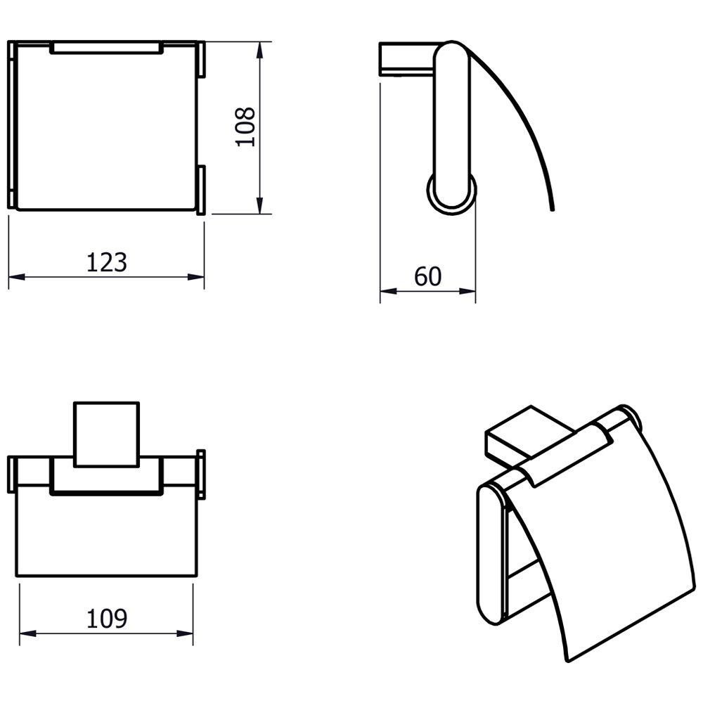 kronenbach plana 2 0 papierhalter mit deckel. Black Bedroom Furniture Sets. Home Design Ideas