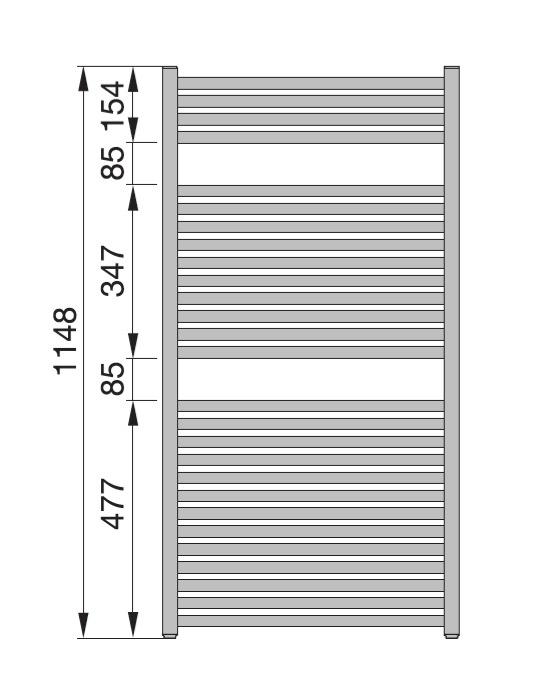zehnder troja tg 120 050 05 badheizk rper 50 x 114 8 cm. Black Bedroom Furniture Sets. Home Design Ideas