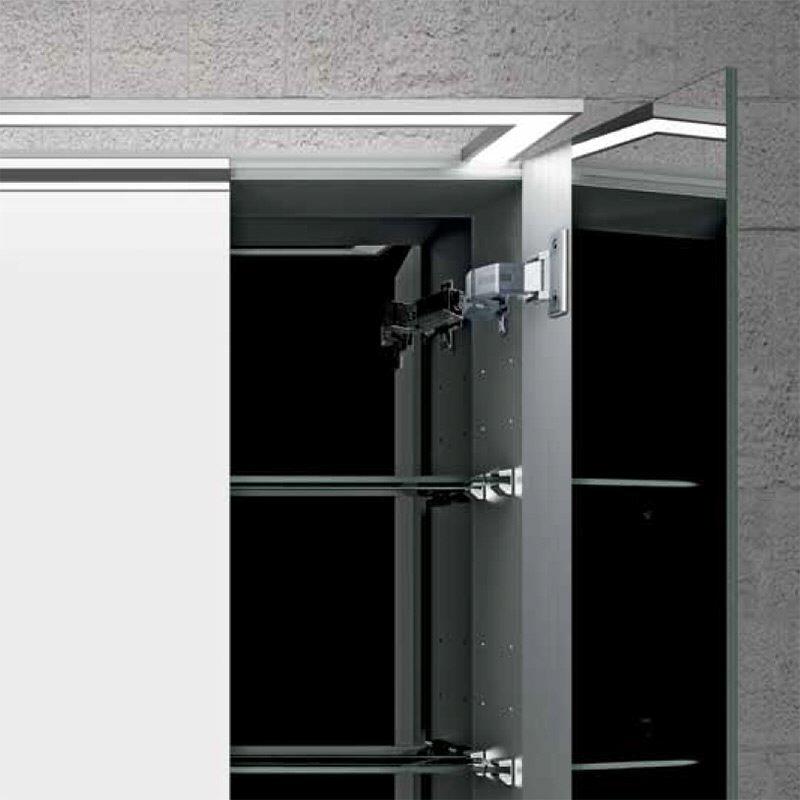 Spiegelschrank modern  Sprinz Modern-Line Spiegelschrank Modell 02 80 cm Aufputzversion ...